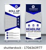 roll up brochure flyer banner... | Shutterstock .eps vector #1706363977