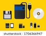 memory card set  storage for... | Shutterstock .eps vector #1706366947