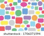 colourful speech bubbles for...   Shutterstock .eps vector #1706371594