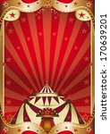 a red circus background with a... | Shutterstock .eps vector #170639201
