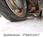 Flat Tire Motorcycle  Condition ...