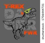 dinosaur background with... | Shutterstock .eps vector #1706444731