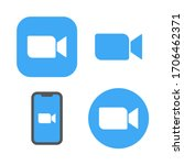 online conference zoom icons.... | Shutterstock .eps vector #1706462371