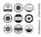 set of retro vintage badge and...   Shutterstock . vector #1706470381