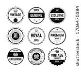 set of retro vintage badge and... | Shutterstock . vector #1706470384