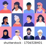 profile picture. male and... | Shutterstock .eps vector #1706528401