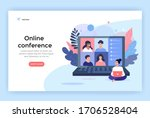 video conference concept... | Shutterstock .eps vector #1706528404