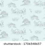 pattern with landscapes with... | Shutterstock .eps vector #1706548657