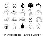 water icon set.liquid drop... | Shutterstock .eps vector #1706560057
