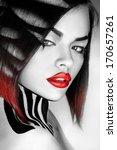 desaturated portrait of sexy... | Shutterstock . vector #170657261