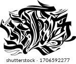 calligraphy lettering graffiti...   Shutterstock .eps vector #1706592277