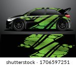 rally car decal graphic wrap... | Shutterstock .eps vector #1706597251