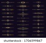 art deco gold divider. modern... | Shutterstock .eps vector #1706599867