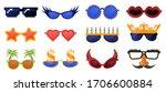 funny party glasses. carnival ...   Shutterstock .eps vector #1706600884