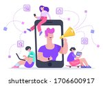 influencer advertising... | Shutterstock .eps vector #1706600917