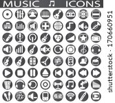 music icons | Shutterstock .eps vector #170660951
