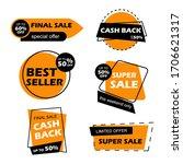 cashback labels. cash back... | Shutterstock .eps vector #1706621317