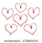 valentine hearts made with... | Shutterstock . vector #170665214