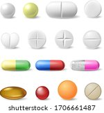 realistic medical pills.... | Shutterstock .eps vector #1706661487