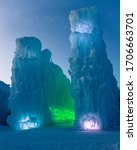 Ice Castles During Sunset In...