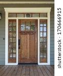 vertical shot of wooden front... | Shutterstock . vector #170666915