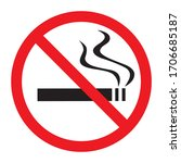 no smoking icon on white... | Shutterstock .eps vector #1706685187