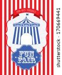 vintage circus fun fair ... | Shutterstock .eps vector #170669441