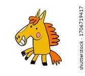 Cartoon Cartoon Horse. Vector...