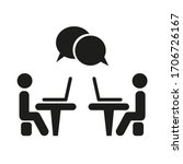 icon conference. man is sitting ... | Shutterstock .eps vector #1706726167