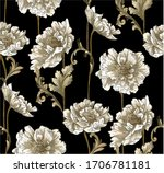 baroque classic pattern with... | Shutterstock .eps vector #1706781181