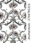 baroque flowers with baroque... | Shutterstock .eps vector #1706781211