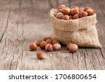 Hazelnuts  Filbert In Burlap...