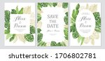 wedding invitation set. cards... | Shutterstock .eps vector #1706802781