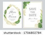 wedding invitation set. cards... | Shutterstock .eps vector #1706802784