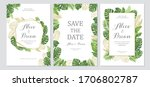 wedding invitation set. cards... | Shutterstock .eps vector #1706802787