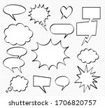a set of comic bubbles and...   Shutterstock .eps vector #1706820757
