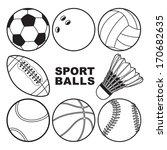 sport balls | Shutterstock .eps vector #170682635