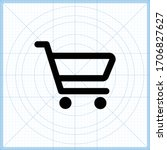 outlined shopping cart icon  ...