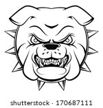 Bulldog Head - stock vector