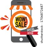 online sale banner design with... | Shutterstock .eps vector #1706872687