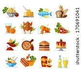 food icons   colored series eps ... | Shutterstock .eps vector #170691041