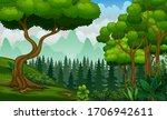 plant and trees on the nature...   Shutterstock . vector #1706942611