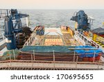 supply boat in oilfield and... | Shutterstock . vector #170695655