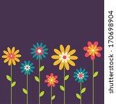 beauty vector postcard in dark... | Shutterstock .eps vector #170698904