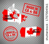 made in canada rubber stamps... | Shutterstock .eps vector #1707004561