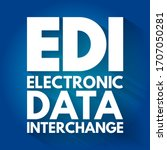 edi   electronic data...   Shutterstock .eps vector #1707050281