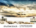 Entrance Of Harbor With...