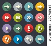 arrow sign flat icon set | Shutterstock .eps vector #170705669