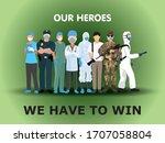doctor  nurse  medical staff ... | Shutterstock .eps vector #1707058804