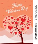 valentines day tree | Shutterstock .eps vector #170708237
